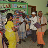 Walking stick distribution to needy beneficiaries